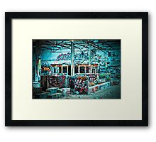Abandoned Old Factory Covered in Colorful Graffiti Framed Print