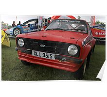 Ford Escort MK2 RS Rally Poster