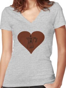 Love for the Moka Pot Women's Fitted V-Neck T-Shirt