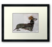 Surger (Sausage Burger) Dog ! Framed Print