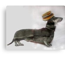 Surger (Sausage Burger) Dog ! Canvas Print