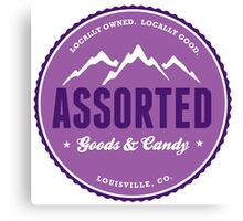 assorted goods and candy Canvas Print