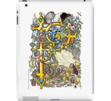 "The Illustrated Alphabet Capital  P  ""Getting personal"" iPad Case/Skin"