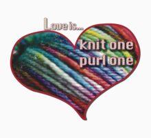 Love is knitting Baby Tee