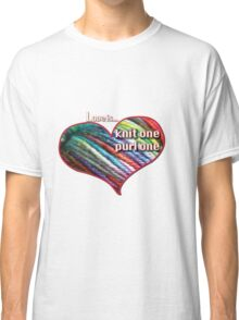 Love is knitting Classic T-Shirt
