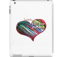 Love is knitting iPad Case/Skin