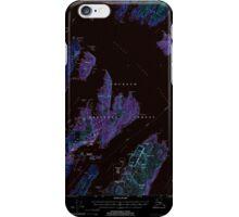 USGS TOPO Map Alaska AK Seward A-3 358865 2000 63360 Inverted iPhone Case/Skin