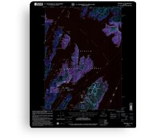 USGS TOPO Map Alaska AK Seward A-3 358865 2000 63360 Inverted Canvas Print