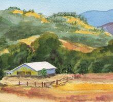 Country Scene White Barn At The Farm Sticker
