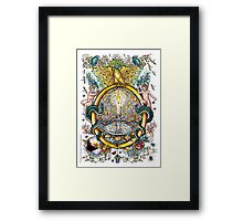 """The Illustrated Alphabet Capital  O  """"Getting personal"""" Framed Print"""