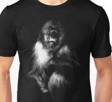 Sad Monkey, monkey black shirt Unisex T-Shirt