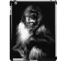 Sad Monkey, monkey black shirt iPad Case/Skin