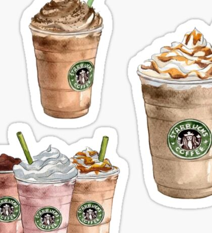 Starbucks Drawing Tri Pack Stickers Sticker