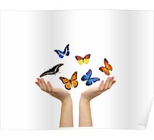Butterfly hands Poster