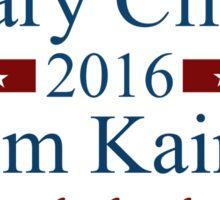 Hillary Clinton & Tim Kaine 2016 Sticker