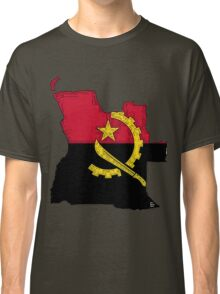 Angola Map With Angolan Flag Classic T-Shirt