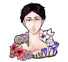 Pretty Setter: Akaashi Keiji (colored) Photographic Print