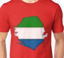 Sierra Leone Map With Flag Unisex T-Shirt