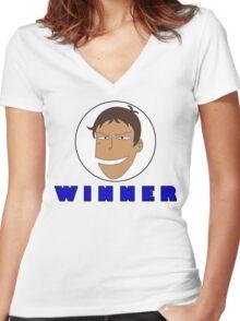 Lance WINNER Flag Women's Fitted V-Neck T-Shirt