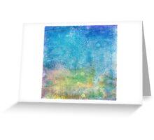 Blue Mixed  Greeting Card
