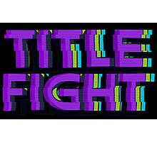 VHS Title Fight Photographic Print