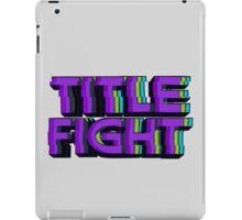 VHS Title Fight iPad Case/Skin