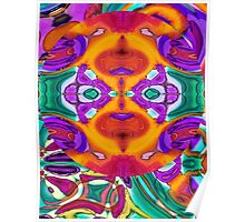 Apophenia Colorful Abstract Lowbrow Art Design Poster