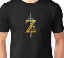 Breath Of The Wild Logo - Half Bright Gold Unisex T-Shirt