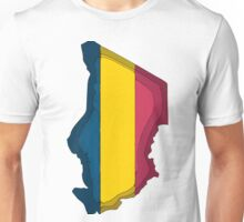 Chad Map With Flag of Chad Unisex T-Shirt