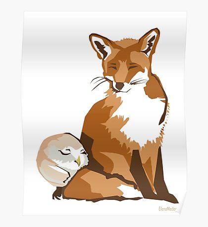 El zorro y la lechuza Poster