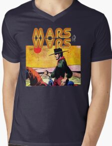 Mars Travels. Mens V-Neck T-Shirt