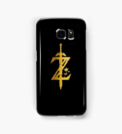Breath Of The Wild Logo - Full Polished Gold Samsung Galaxy Case/Skin