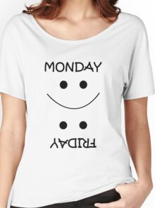 Diiference between Monday and Friday.. Women's Relaxed Fit T-Shirt