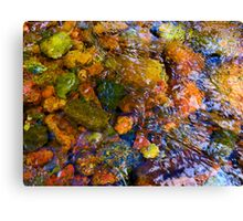 """River Rock Abstract 11"" Canvas Print"