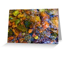 """River Rock Abstract 11"" Greeting Card"