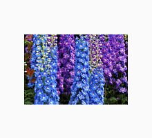 Blue and Purple Delphinium Border Unisex T-Shirt