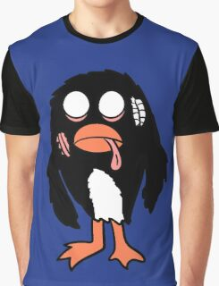 Zombie Penguin Graphic T-Shirt