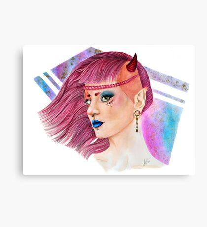 Demoniac 80s Canvas Print