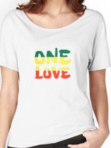 One Love Reggae Rasta Peace Weed Stoner Women's Relaxed Fit T-Shirt