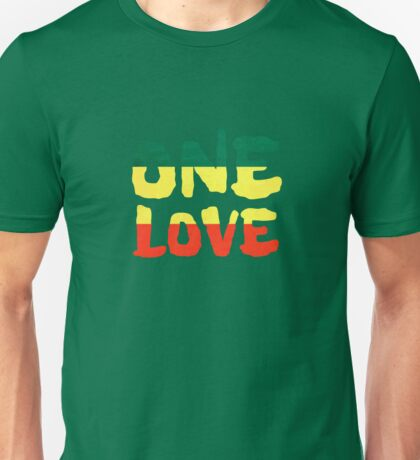 One Love Reggae Rasta Peace Weed Stoner Unisex T-Shirt