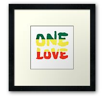 One Love Reggae Rasta Peace Weed Stoner Framed Print