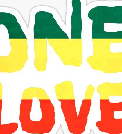 One Love Reggae Rasta Peace Weed Stoner Sticker