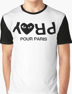 CDG Pray for Paris Graphic T-Shirt