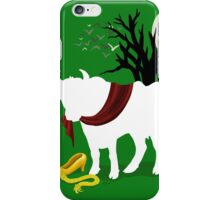 Into the Woods -  Green Background iPhone Case/Skin