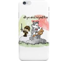 Arya and Nymeria iPhone Case/Skin