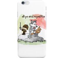 Arya and Nymeria iPhone Case/Skin