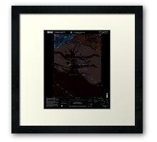 USGS TOPO Map Alaska AK Cordova B-5 355159 2000 63360 Inverted Framed Print