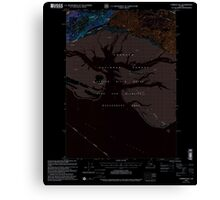 USGS TOPO Map Alaska AK Cordova B-5 355159 2000 63360 Inverted Canvas Print