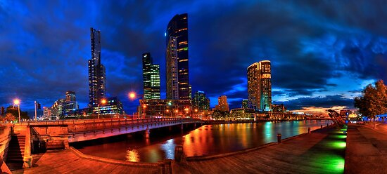 Melbourne's South Bank Panorama by JimmyAmerica
