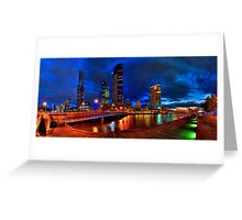 Melbourne's South Bank Panorama Greeting Card